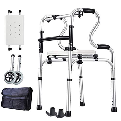 YXCKG Gehhilfe Für Senioren, Klappbarer Walker, Toiletten Stützgestell Haltegriff Höhenverstellbar Für Bad, Aluminium Mobile Aufstehhilfe Toiletten (Size : Style 6)