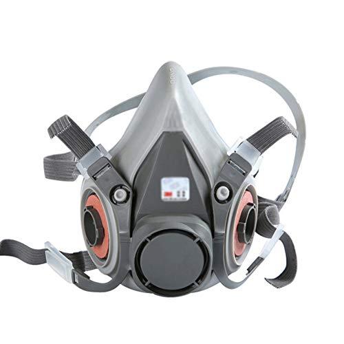 Gas Masker Rubber Respirator Bescherming Dual Air Filter Eye, Geactiveerde Koolstof Respirator Masker Voor Gas Stof Masker, Voor Spray Paint Spray Lassen