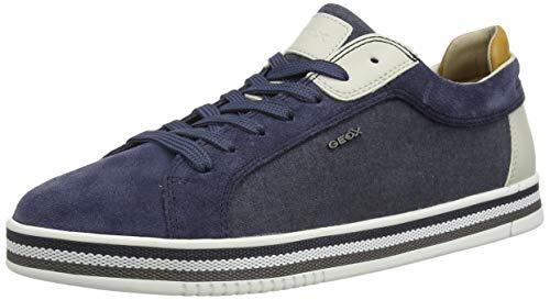 Geox U EOLO A, Sneakers Basses Homme, Bleu (Avio...