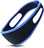 Anti-Snoring Chin Strap ? Effective Stop Snoring Solution - Adjustable Breathable Stop Snoring Sleep Aid for Men and Women ? Snore Reducing Device - Snore Stopper, Chin Strap for cpap Users (Blue)