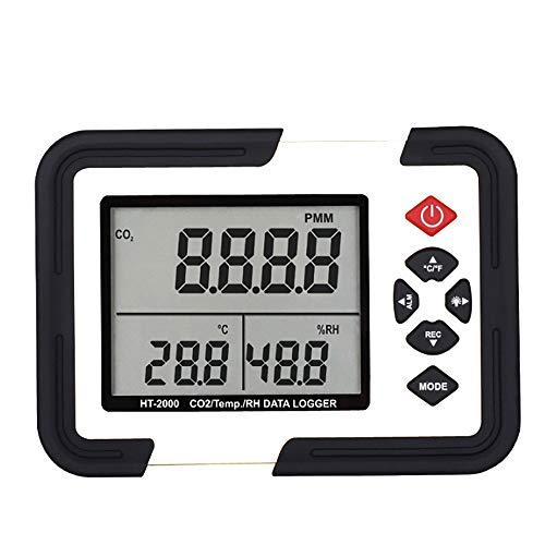 Gas Kohlendioxid Detektor Kohlendioxid-Detektor Mit Temperatur- Und Feuchteüberwachung LED-Bildschirm CO2 Kohlendioxid Luftfeuchtigkeit Datenlogger
