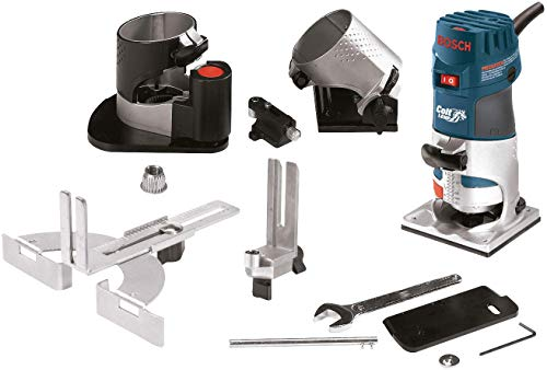 Bosch PR20EVSNK Colt Installers Kit 5.7 Amp 1 Hp Fixed-Base Variable-Speed Router with 3 Assorted...