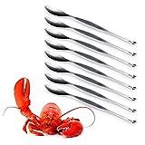 3 Claveles Set Profesional de 8 Tenedores para Marisco de 23 cm. Acero Inoxidable 18/10 AISI 304