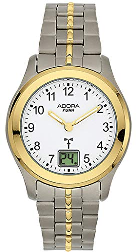 Adora Funk Damenuhr Quarz Titan Armbanduhr 5 BAR Analoguhr Ø 32mm Bicolor