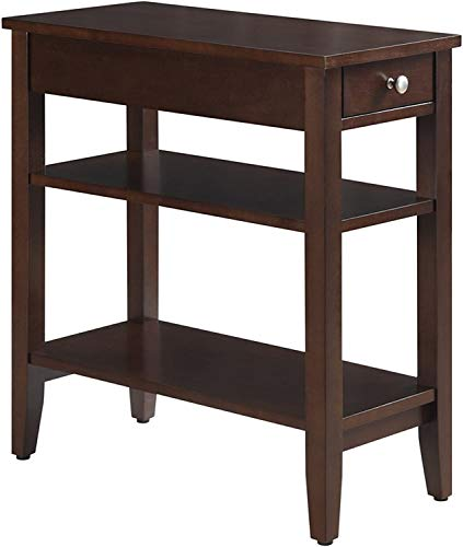 Convenience Concepts American Heritage Three Tier End Table with Drawer Espresso