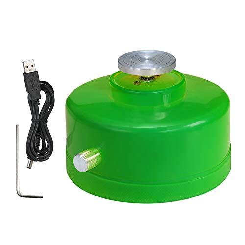 KKmoon mini-machine met keramische wiel en USB-aansluiting, 4,3 cm, elektrische platenspeler, handgemaakt, van klei Groen