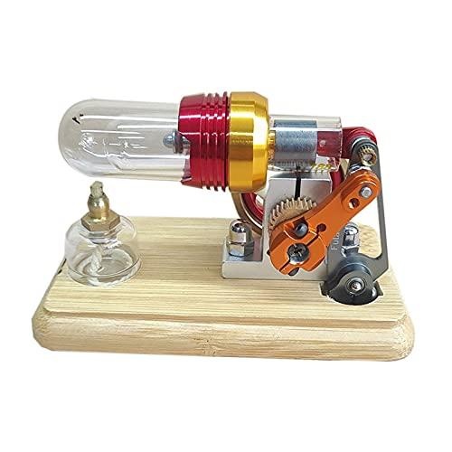 LKZL Motor Stirling de Aire Caliente, Modelo de Motor de Vapor Generador de Electricidad Neumática, Juguete Científico Educativo para Niños