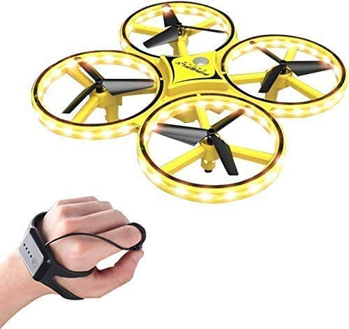 LYHLYH Mini Drone pour Les Enfants, Regarder contrôlé Obstacle de Suspension interactif évitement Jouets pour Enfants intelligents UFO 360 ° Flip pour Enfants Adultes débutants