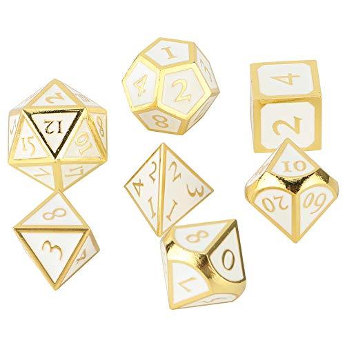 Tbest Dadi di Gioco Standard, Giocattolo da Gioco da Tavolo Meraviglioso con Dadi poliedrici a 7 Lati in Metallo(#2)