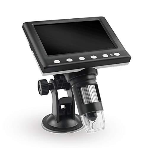 GJWHENS LCD-Digital USB-Mikroskop 4,3-Zoll-10X-1000X Vergrößerung Zoom, 8 LED einstellbar Licht, wiederaufladbare Lithium-Batterie-Kamera Video-Recorder für Android ios iPhone iPad