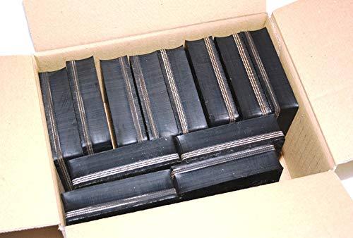 70x70x28mm (Karton mit 12 Stück) Gummi-Auflage Unterlage Wagen-Heber Hebebühne eckig Auto Set Unterstellbock Klotz Rangier-Wagenheber Puffer Reifen Reifenwechsel LKW Räder KFZ Tuning Zubehör