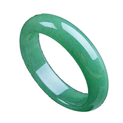 Bracciale di Giada Naturale Bracciale di Giada Naturale Pieno di Ghiaccio Verde per Le Donne Bracciale di Gioielleria di Giada Tonda Rotonda Bracciale Rigido con Gioielli d'Epoca di Fascia Alta,64mm