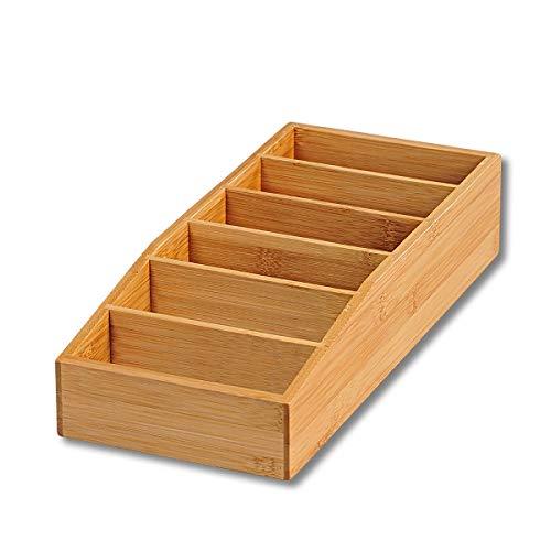 KESPER 70822 Aufbewahrungsbox aus Bambus 15 x 35 x 7 cm für Tütensuppen oder -saucen
