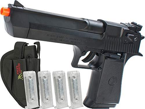 Evike Desert Eagle Licensed Magnum 44 Airsoft Pistol (Color: Black w/ 4 Extra Mags & Holster)