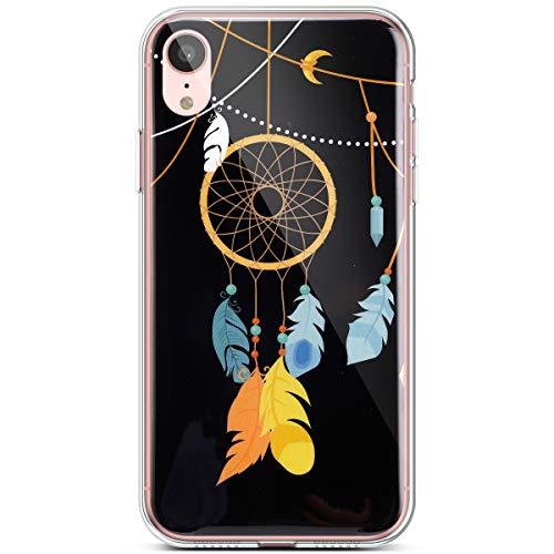 QPOLLY Kompatibel mit iPhone XR Hülle TPU Silikon Leuchtend Bunt bemalt Muster Luminous Handyhülle Ultra Dünn Weich TPU Schutzhülle Handy Tasche Case für iPhone XR,Windspiele