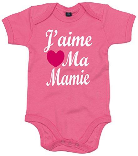 J'aime MA Mamie' 62-68 Rose bébé Bodysuit