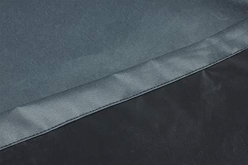 Hentex Cover Loungemöbel Abdeckhaube für L-Form Sofas,Wasserdichtes Atmungsaktives TPU Gewebe Abdeckhaube für Gartenmöbel ,Wasserdicht Schutz vor Wind UV schützende (Grau (235 * 235 * 100W*70H cm) - 5