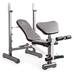 marcy folding weight bench with preacher curl bench