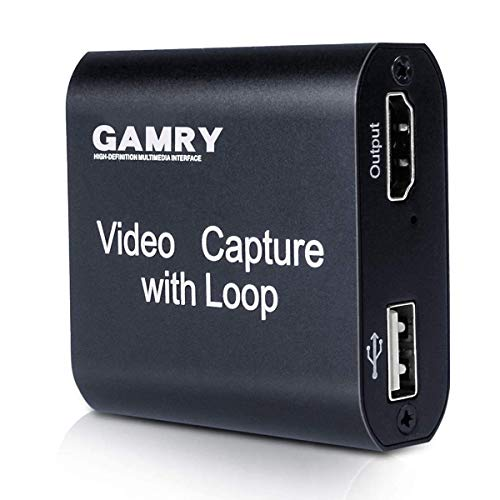 Tarjeta de Captura de Vídeo HDMI con Loop Out, 4K HD 1080P USB 2.0 para Transmisión en Vivo de Transmisión de Vídeo para Juegos, Transmisión, Enseñanza, Videoconferencia