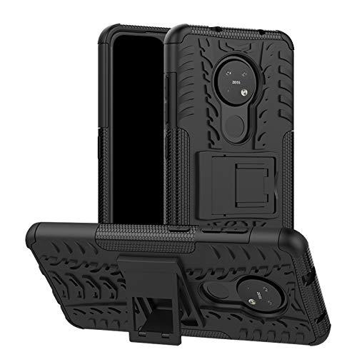 betterfon   Nokia 6.2/7.2 Hülle Outdoor Handy Tasche Hybrid Hülle Schutzhülle Panzer TPU Silikon Hard Cover Bumper für Nokia 6.2/7.2 Schwarz