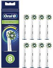 Oral-B CrossAction opzetborstels met CleanMaximiser-borstelharen voor volledige mondreiniging.