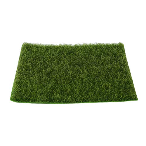 GHJUU Artificial Grass Mat Diy Grass Lawn Simulation Moss Plastic Lawn Grass Indoor Life-Like Grass Lawn Miniature Ornament Garden Craft Pot Dollhouse Decoration,15 * 15cm