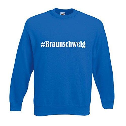 Reifen-Markt Sweatshirt Damen #Braunschweig Größe S Farbe Blau Druck Weiss
