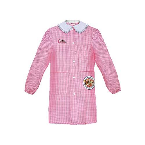 LOL SURPRISE grembiule scuola bimbo asilo con bottoni bianco e rosa art. G16 (55, rosa)