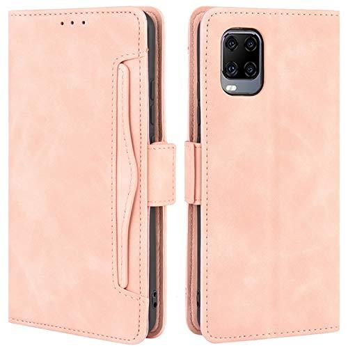 HualuBro Handyhülle für ZTE Axon 11 5G Hülle Leder, Flip Hülle Cover Stoßfest Klapphülle Handytasche Schutzhülle für ZTE Axon 11 5G Tasche (Pink)