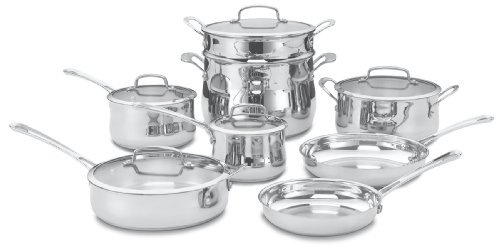 Cuisinart 44-13 Contour Stainless 13-Piece Cookware Set