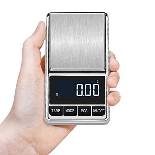 Bolsillo eléctrico con retroiluminación de alta precisión para joyería Peso en gramo para cocina Mini báscula digital 100/200/300 / 500g 0.01/0.1g 100g 0.01g