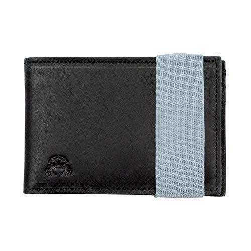 Crabby Wallet – Schmale Ledergeldbörse – Herren-Geldbörse aus Leder – RFID-blockierende Geldbörse – schlankes Portemonnaie – Fliesen-Tracker-freundlich – Kreditkarten-Halter – Ledergeldbörse – Delta