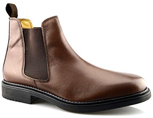Roamer Mens Leather Flexible Fuller Fit Chelsea Dealer Ankle Boots Shoes...