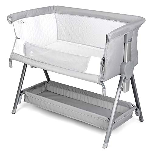 CRZDEAL Bassinet & Bedside Sleepers Lightweight and Mobile with Storage Basket Beside Sleepers for Baby/Infants/Baby Girl/Baby Boy to Reduce Mom's...