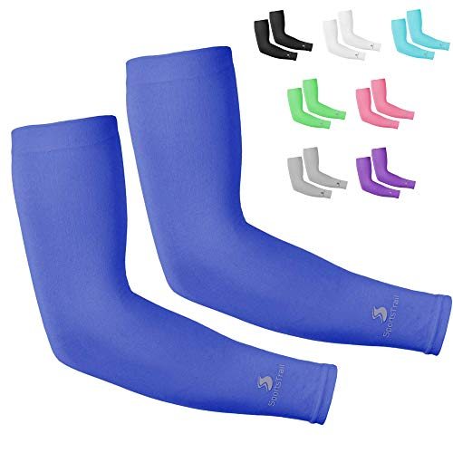 Kühlende Armstulpen für Damen und Herren, Tatoo Cover Up, 1 Paar (dunkelblau)