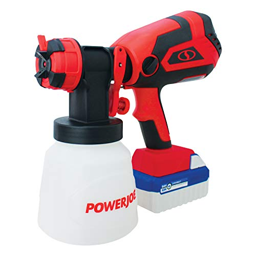 Sun Joe 24V-PS1 24-Volt Amp Cordless HVLP Handheld Paint Sprayer, Kit (w/4.0-Ah Battery + Quick Charger)