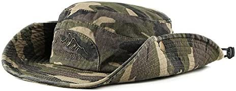 ALIXIN-Caza en la Jungla Escalada al Sombrero de Vaquero de Camuflaje,Sombrero ala Ancha de Verano Protección UV para la Playa Sombrero a Prueba de ...