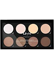 Nyx Professional Makeup Highlight & Contour Pro Palet, Poedercontourkit, 8 Matten en Parelmoer-Tinten