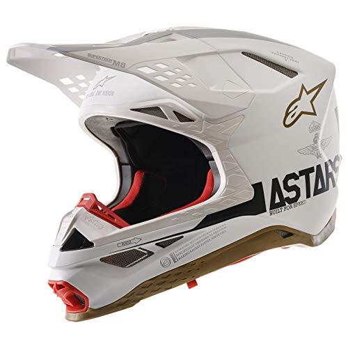 Alpinestars Supertech SM-8 Limited Edition Squad MX Helmet Small White Gold