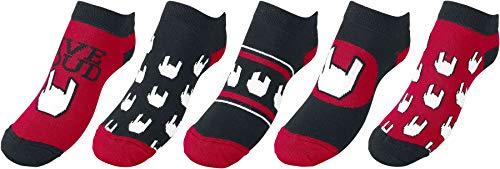 EMP Basic Collection Logo Unisex Socken schwarz/rot/weiß EU 35-38