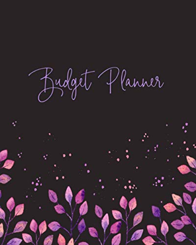 Budget Planner: Weekly and Monthly Financial Organizer | Savings - Bills - Debt Trackers | Modern Grey & Purple Watercolor (Financial Planning & Organization)
