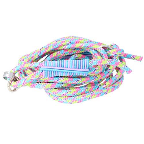 Taumur Flugeldur - Zweifach verstellbare Hundeleine - Robustes PPM - kleine Hunde - Farbe: hellblau/rosa/gelb