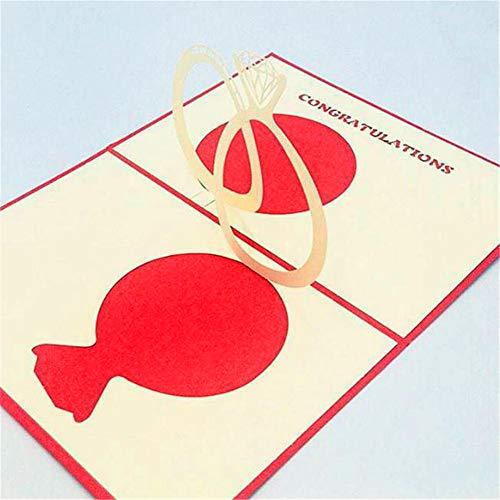 MOPKJH Romance Card 3D-Popup-Karte Kreatives Geschenk Handgemachtes Geschenk Papercraft Handmade 3D Pop Up Hochzeitskarten Auto 3D Pop Up Grußkarte
