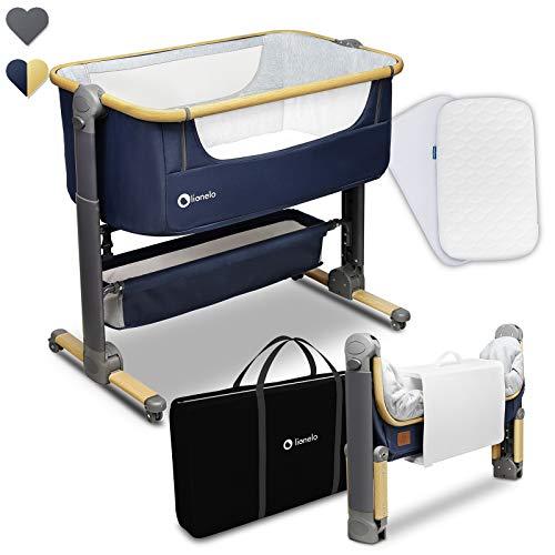 Lionelo Timon Beistellbett Baby Reisebett Baby ab Geburt bis 9 kg Matratze 6 stufigen...