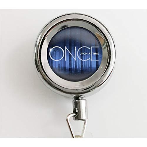 bab Once upon a time Glasanhänger einziehbare Ausweisrolle mit wasserdichtem Ausweishalter und Schlüsselanhänger