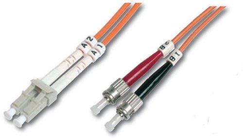 DIGITUS LWL Patch-Kabel OM1 - 1 m LC auf ST Glasfaser-Kabel - LSZH - Duplex Multimode 50/125µ - 10 GBit/s - Orange