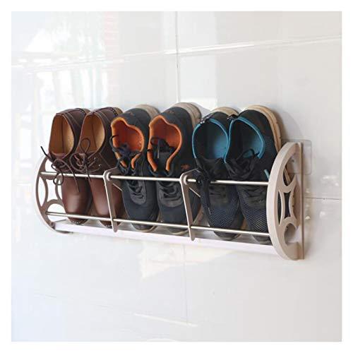 LSSB Montado En La Pared Zapatos De Rack, Punch-Libre Mueble Zapatero Multifunción Ahorro De Espacio Estante Organizador De Almacenamiento, para Zaguán, Entrada, Sala De Estar, Cuarto De Baño