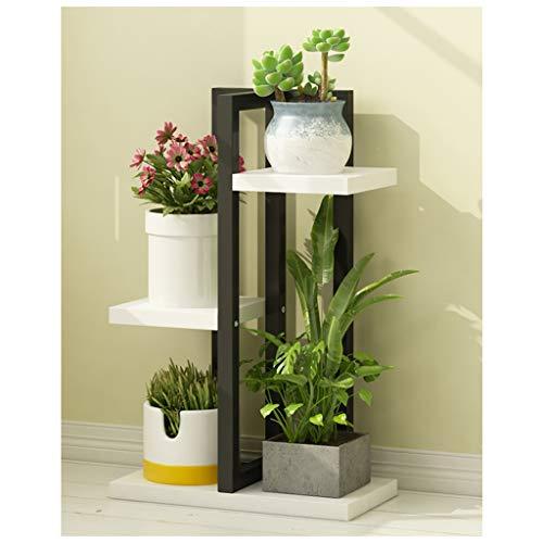 YiLANJUN bloemenrek, smeedijzer, deur voor planten, binnen en buiten, houder voor bloemen, ideaal voor huis, balkon, tuin