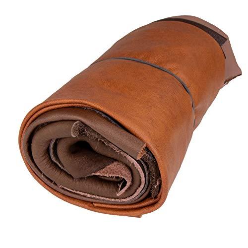 Langlauf Schuhbedarf ® Lederstücke mittel 1kg braun - alle Stücke Mind. DIN A4