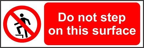 Label - Sécurité - Avertissement - Señales de prohibición No pisar esta superficie Letrero de seguridad - 15x5cm- bureau, entreprise, école, hôtel